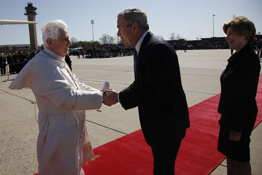 Andrews Air Force Base arrival of Pope Benedict XVI