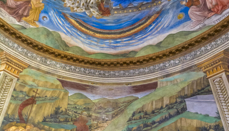 Spoleto Cathedral, 15th century frescoed apse (Umbria, Italy)