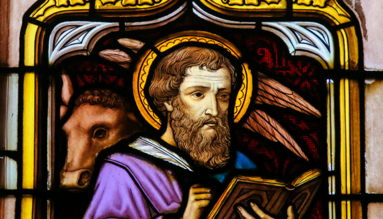 Stained Glass of the Saint Luke the Evangelist